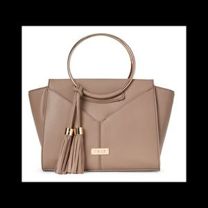 NWT BEBE Ring Aurora Tote in Taupe